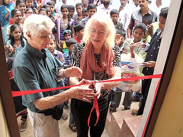 Peter and Sue inaugurating the new Community Centre