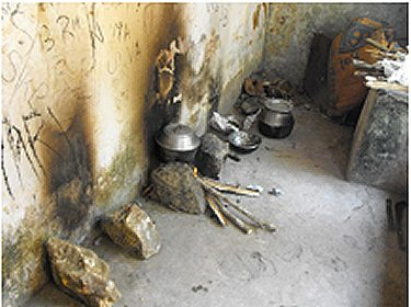 Kitchen in the old building