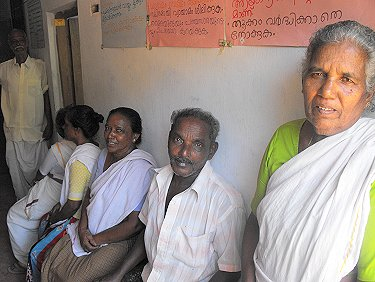 Patients queuing to see the doctor